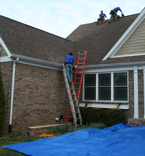 organized roofing job frankfort ky