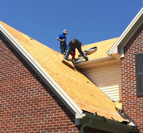 An example of our residential roofing services in Frankfort, KY