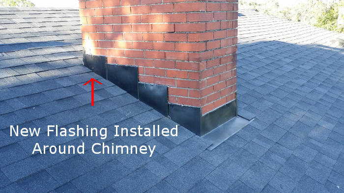 installed flashing around chimney in lexington ky
