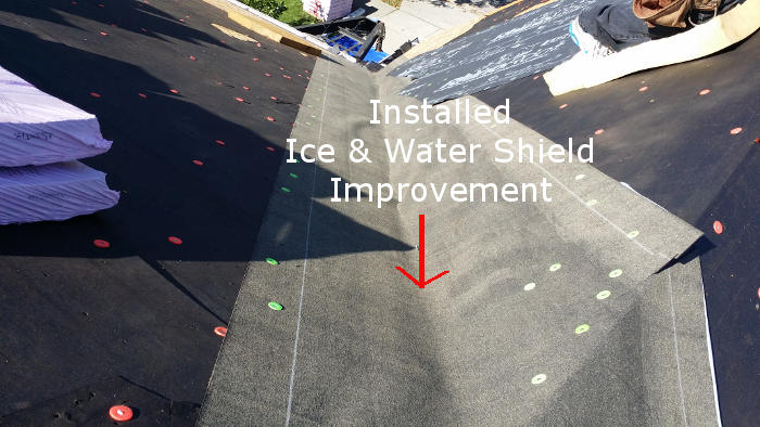 installing ice and water shield for snow on roof lexington ky