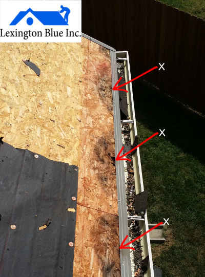 no use of underlayment on wood decking