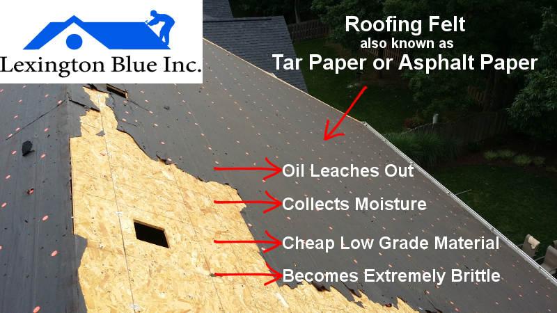 Roof Felt Causes Leak Lexington Ky Cheap Roofing ...