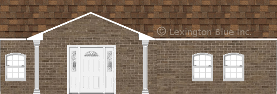 brown brick house aged cedar colored shingle