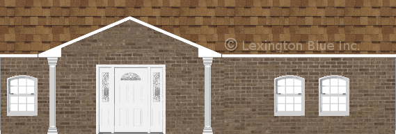 brown brick house desert tan colored shingle