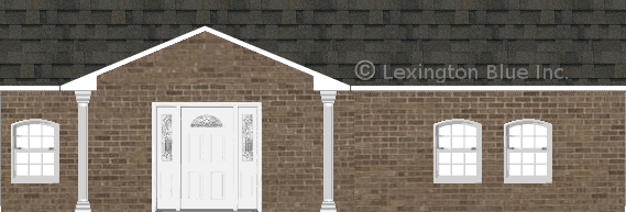 brown brick house peppermill gray colored shingle