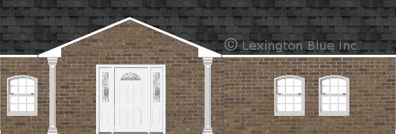 Brown Brick House Twighlight Black Colored Shingle