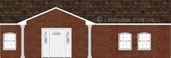 red black brick house brownwood colored shingle
