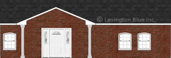 red black brick house onyx black colored shingle