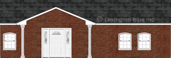 Red Black Brick House Twighlight Colored Shingle