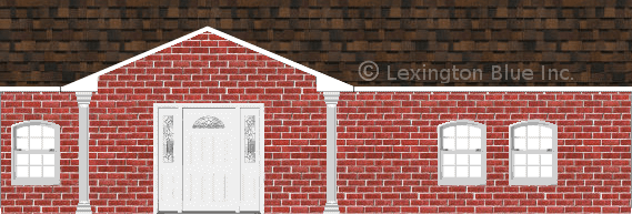 red brick house brownwood colored shingle