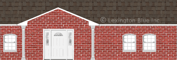 red brick house tweak colored shingle