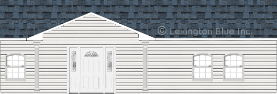 white vinyl siding home harbor blue colored shingle