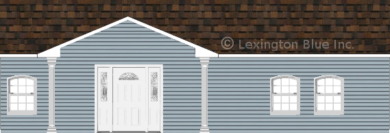 blue vinyl siding home brownwood colored shingle