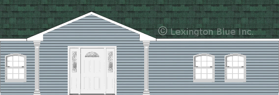 blue vinyl siding home chateau green colored shingle
