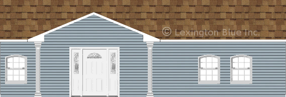 Examples of shingle colors based on different home exterior 39 s for Blue siding house