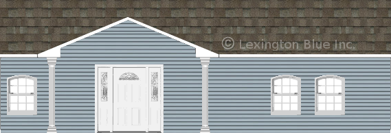 blue vinyl siding home driftwood colored shingle