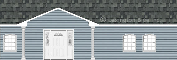 blue vinyl siding home estate gray colored shingle