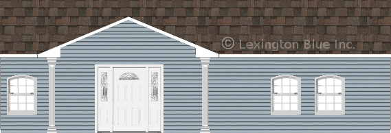 blue vinyl siding home flagstone colored shingle
