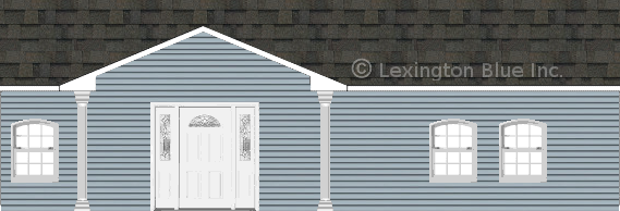 blue vinyl siding home peppermill gray colored shingle