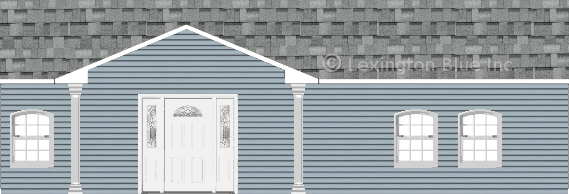 blue vinyl siding home sierra gray colored shingle