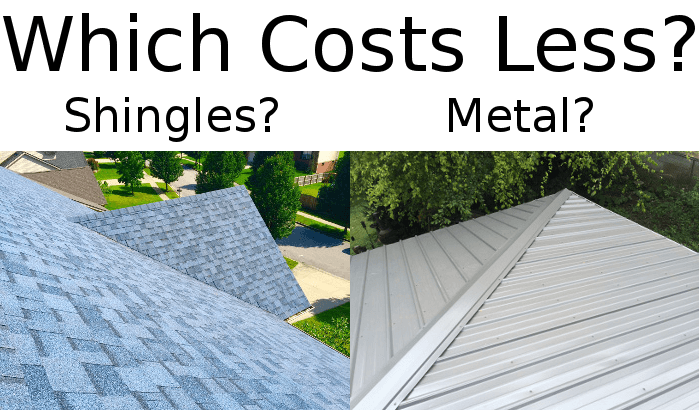 Metal roofing cost vs asphalt shingles metal roof prices for Cost to roof a house calculator