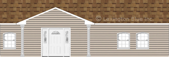gray vinyl siding home desert tan colored shingle