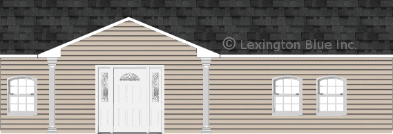 gray vinyl siding home twilight black colored shingle