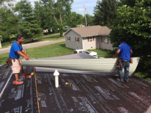 installed synthetic felt underlayment before metal roof install lexington ky 11-2-16