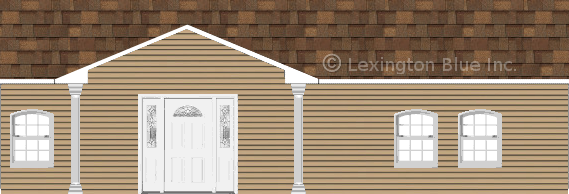 tan vinyl siding home aged cedar colored shingle