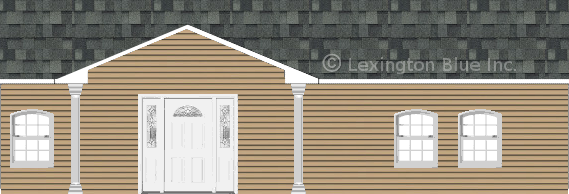 tan vinyl siding home estate gray colored shingle