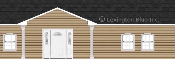 tan vinyl siding home onyx black colored shingle