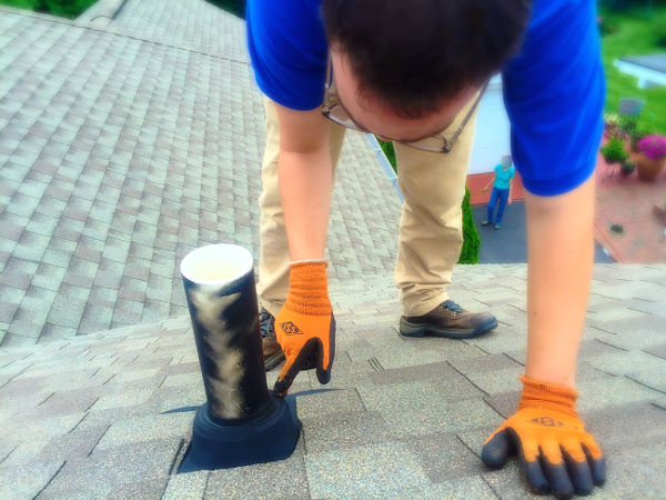 inspecting roof plumbing vents 3-10-17