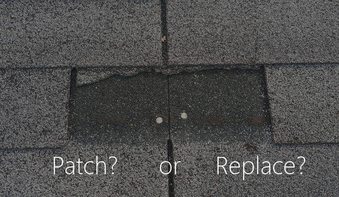 patch or replace missing shingle tab