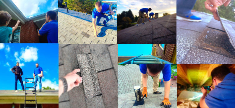 storm damaged roof inspection project 3-10-17