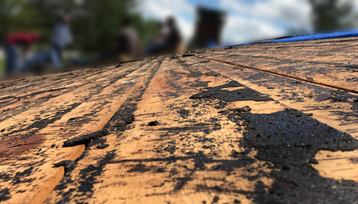 underlayment scraped off roof before installation 5-19-17