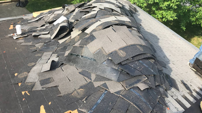 removing old shingles 7-22-17