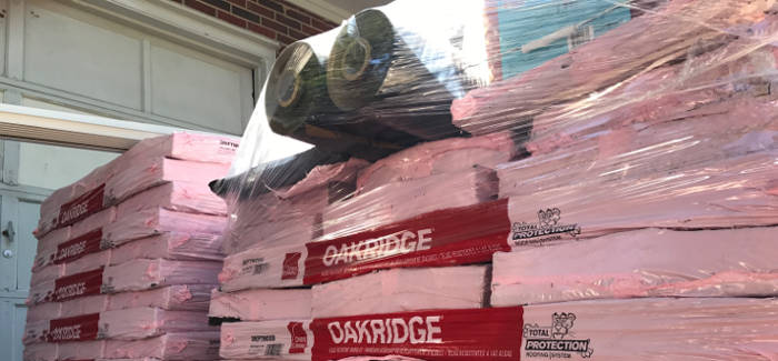 roofing materials on site 8-25-17