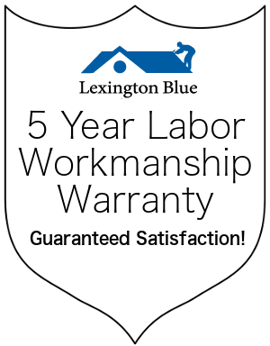 lexington blue 5 year labor warranty