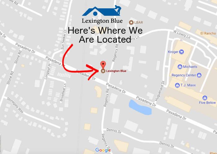 lexington blue office location on map 287 pasadena dr lexington ky 40503