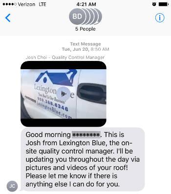 text message progress report 1