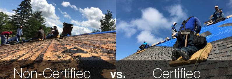 non certified vs certified certainteed roofers lexington ky
