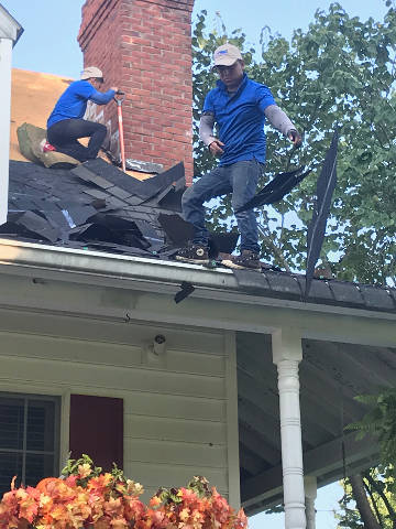 continuing roof tear off process 9-25-17