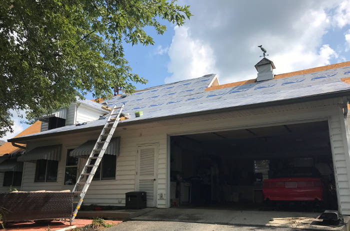 installing synthetic underlayment 9-25-17