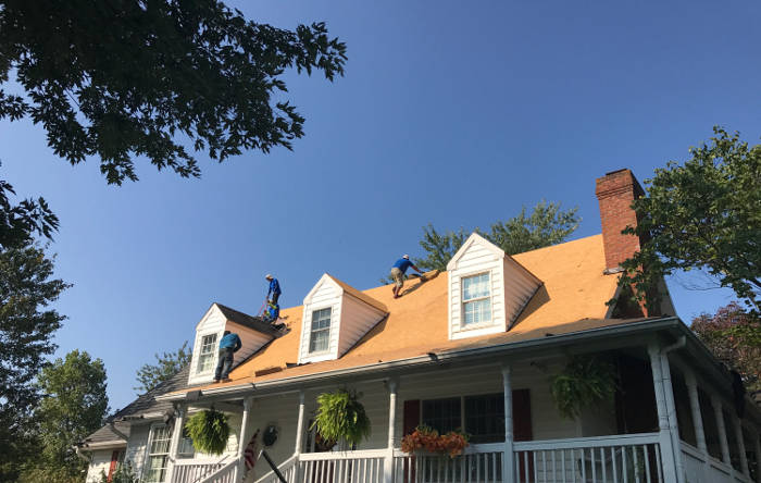 old roofing material completely removed before new installation 9-25-17