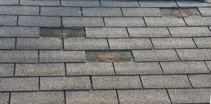 shingles missing on roof