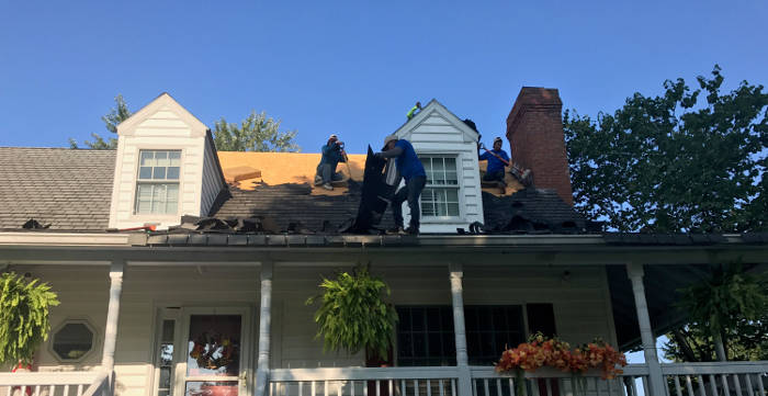 starting with roof tear off 9-25-17