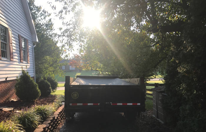 trailer used for trash and debris 9-25-17