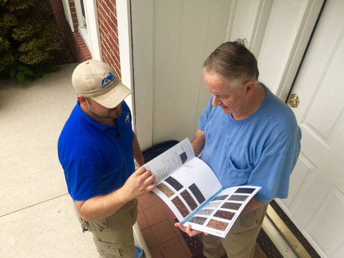 explaining types of shingles to homeowner in lexington ky