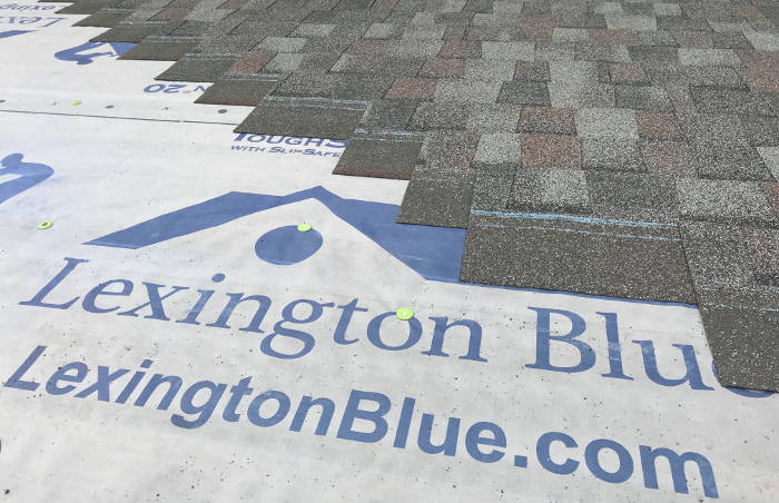 lexington blue installing architectural shingles