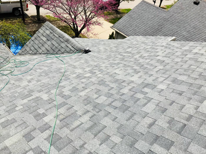 completed shingle installation 4-19